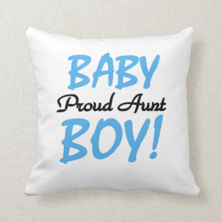 Proud Aunt Baby Boy T-shirts and Gifts Throw Pillow