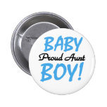 Proud Aunt Baby Boy Tshirts and Gifts Button