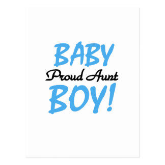 Proud Aunt Baby Boy Tshirts and Gifts Postcard