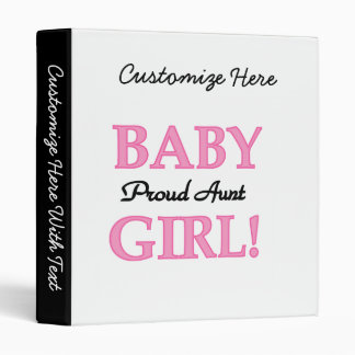 Proud Aunt Baby Girl T-shirts and Gifts Binder