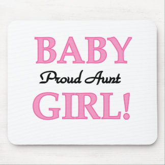 Proud Aunt Baby Girl Tshirts and Gifts Mouse Pad