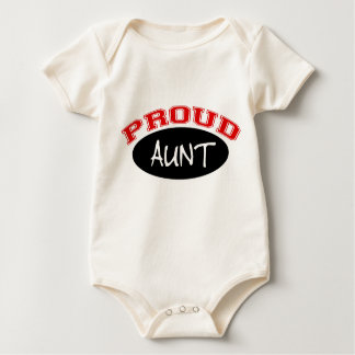Proud Aunt (Black and Red) Baby Bodysuit