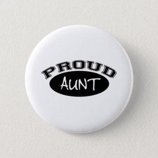 Proud Aunt (Black) Pinback Button
