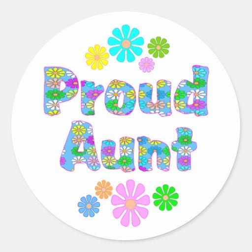 Proud Aunt Classic Round Sticker