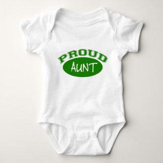 Proud Aunt (Green) Baby Bodysuit