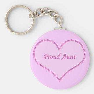 Proud Aunt Keychain, Pink