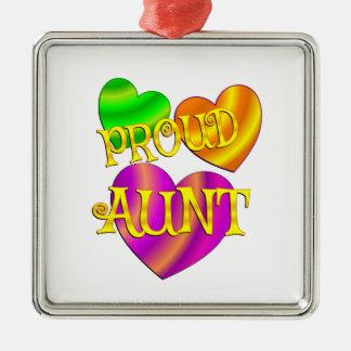 Proud Aunt Metal Ornament