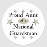 Proud Aunt of a National Guardsman Classic Round Sticker