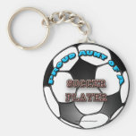 Proud Aunt of a Soccer Player keychain