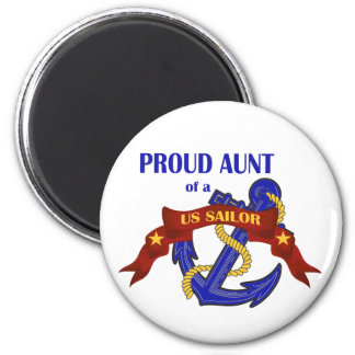 Proud Aunt of a US Sailor 2 Inch Round Magnet