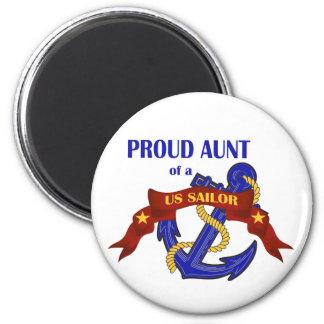 Proud Aunt of a US Sailor Magnet
