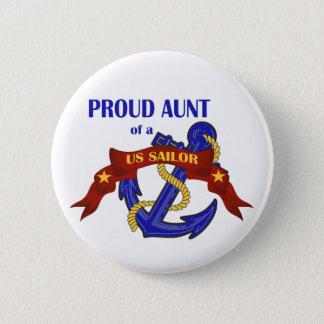 Proud Aunt of a US Sailor Pinback Button