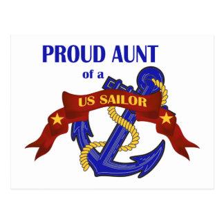 Proud Aunt of a US Sailor Postcard