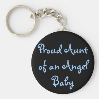 Proud Aunt of an Angel Baby Keychain