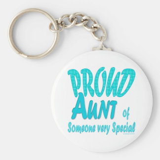 Proud Aunt of Someone very Special Basic Round Button Keychain