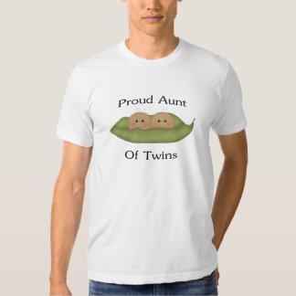 Proud Aunt Of Twins Tshirt