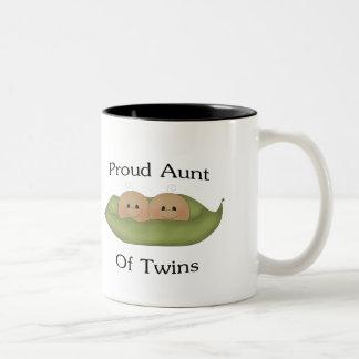 Proud Aunt Of Twins Two-Tone Coffee Mug