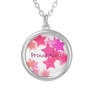 Proud Aunt Silver Plated Necklace