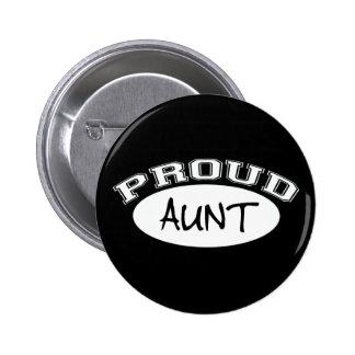 Proud Aunt (White) Button