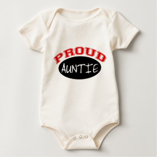 Proud Auntie (Black and Red) Baby Bodysuit