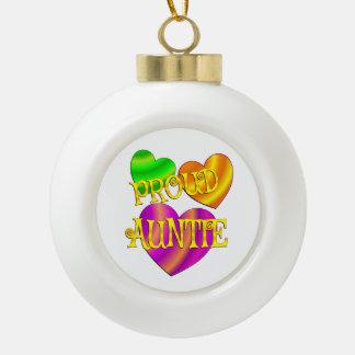 Proud Auntie Ceramic Ball Christmas Ornament