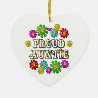 Proud Auntie Ceramic Ornament