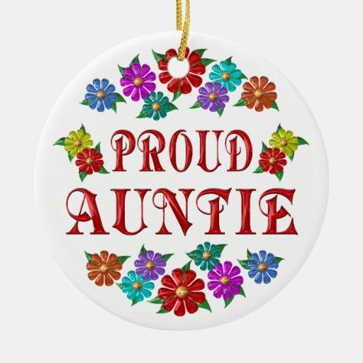 PROUD AUNTIE CHRISTMAS ORNAMENT