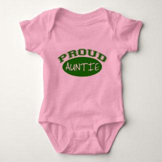 Proud Auntie (Green) Baby Bodysuit