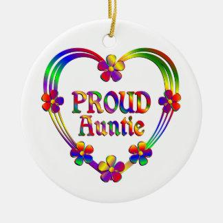 Proud Auntie Heart Ceramic Ornament
