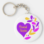 Proud Auntie Heart Key Chains
