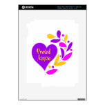Proud Auntie Heart Skins For iPad 3