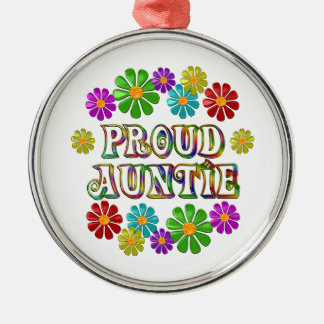 Proud Auntie Metal Ornament