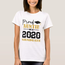 Proud Auntie of a 2020 Graduate T-Shirt
