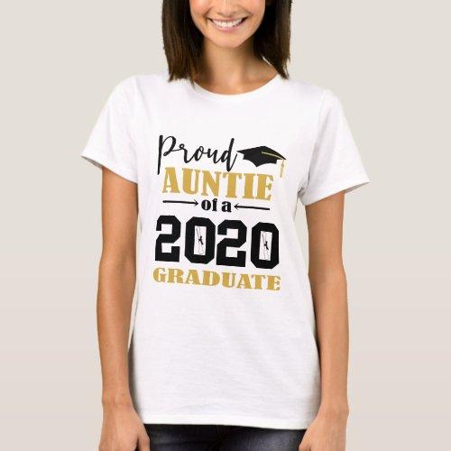 Proud Auntie of a 2020 Graduate T_Shirt