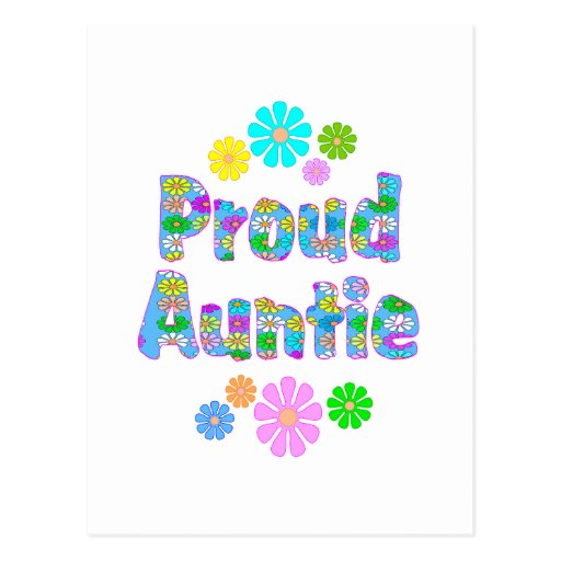 Proud Auntie Postcard