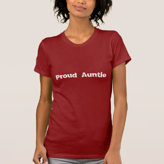 Proud Auntie red and white t shirt