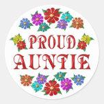 PROUD AUNTIE STICKERS