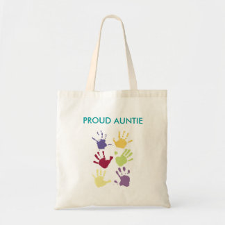PROUD AUNTIE TOTE CANVAS BAGS