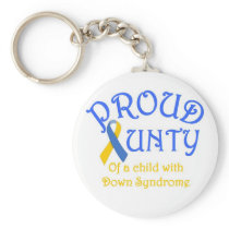 Proud Aunty Down Syndrome Keychain