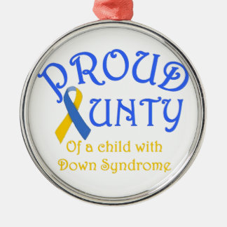 Proud Aunty Down Syndrome Metal Ornament