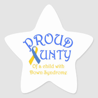 Proud Aunty Down Syndrome Star Sticker