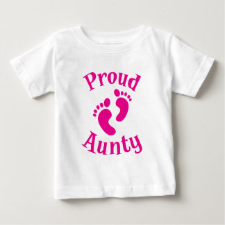 proud aunty with cute feet t shirt