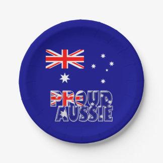 proud Aussie Paper Plate