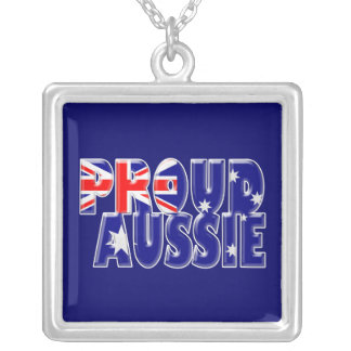 proud Aussie Silver Plated Necklace