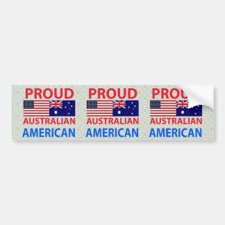 Proud Australian American Bumper Sticker