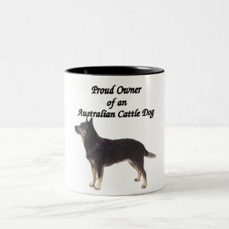 Proud Australian CattleDog Blue Two-Tone Coffee Mug