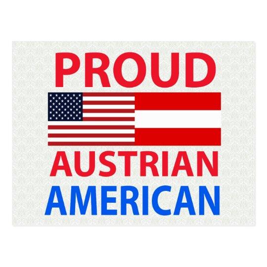 Proud Austrian American Postcard