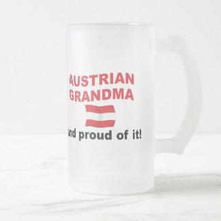 Proud Austrian Grandma Frosted Glass Beer Mug