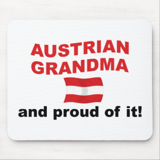Proud Austrian Grandma Mouse Pad