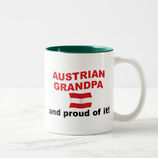 Proud Austrian Grandpa Two-Tone Coffee Mug